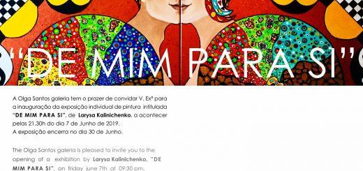 """Exposição individual de pintura """"De mim para si"""""""